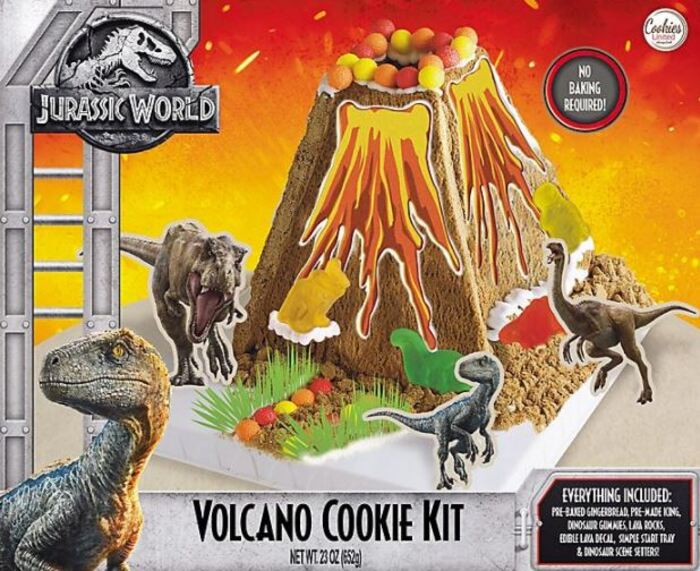 Funny Gingerbread House Ideas - Volcano Cookies Jurassic World