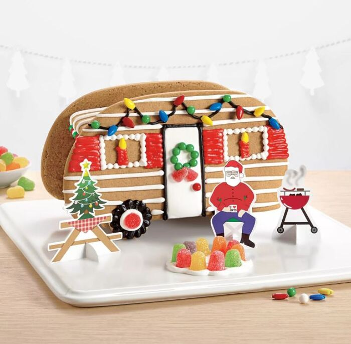 Funny Gingerbread House Ideas - Holiday Camper Gingerbread Cookie Kit