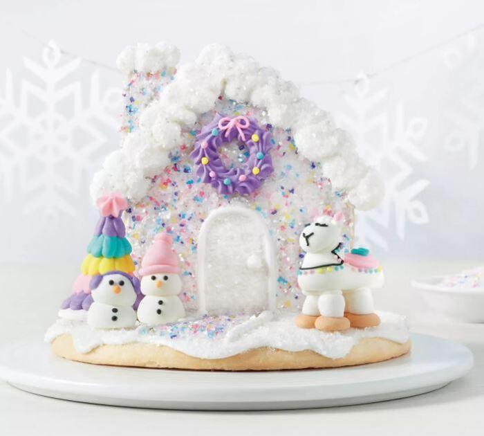Funny Gingerbread House Ideas - Fa-La-La-Llama Sugar Cookie Scene Kit