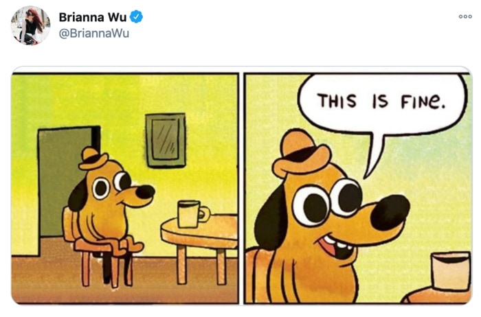 Funny Tweets Women - this is fine
