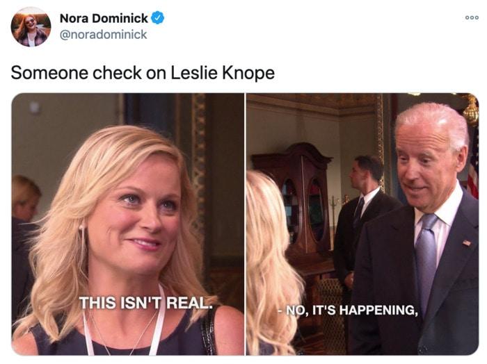 Funny Tweets Women - leslie knope joe biden