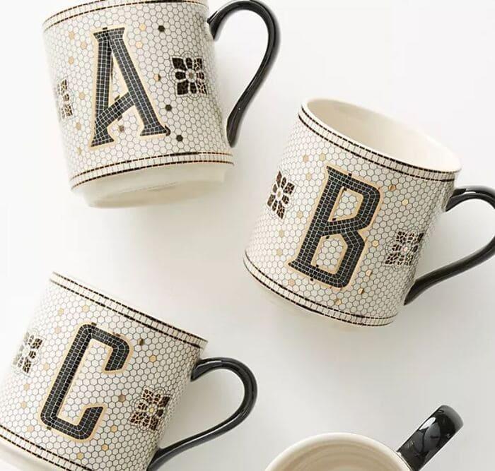 Gifts Under $25 - Tiled Margot Monogram Mug