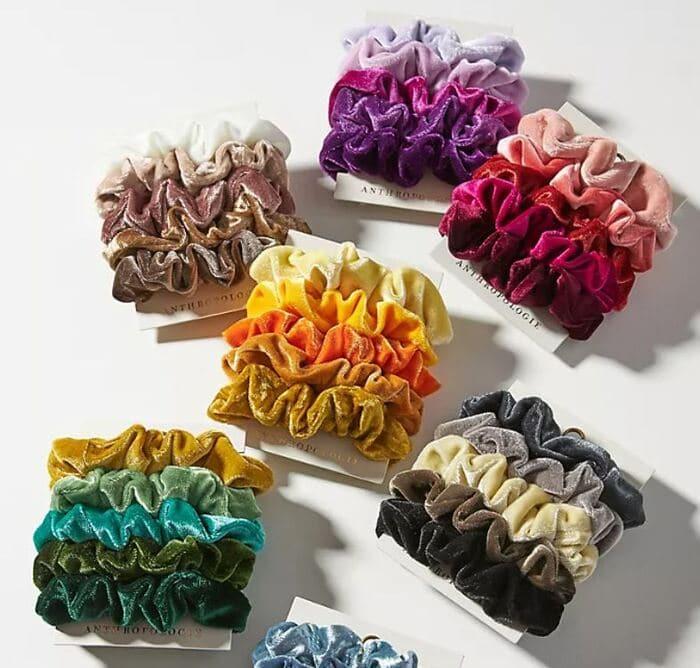 Gifts Under $25 - Lucia Velvet Scrunchie Set