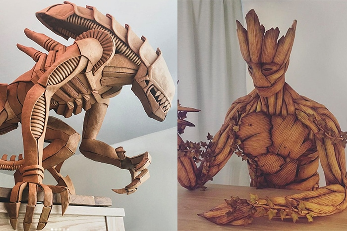 Life Size Gingerbread - Groot and Xenomorph
