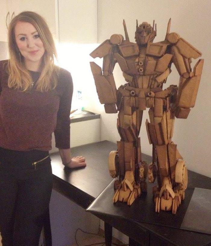 Life Size Gingerbread - Transformer Optimus Prime