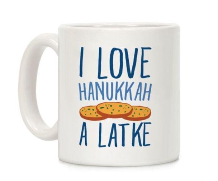 Pancake Puns - I love Hanukkah A Latke