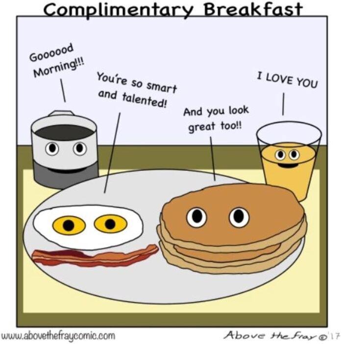 Pancake Puns - Complimentary Breakfast