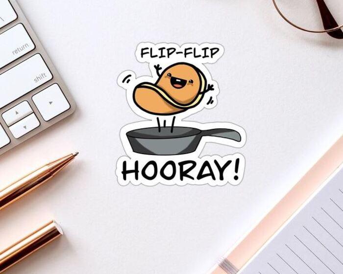 Pancake Puns - Flip Flip Hooray