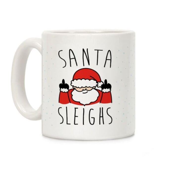 Sleigh Puns - Santa Sleigh