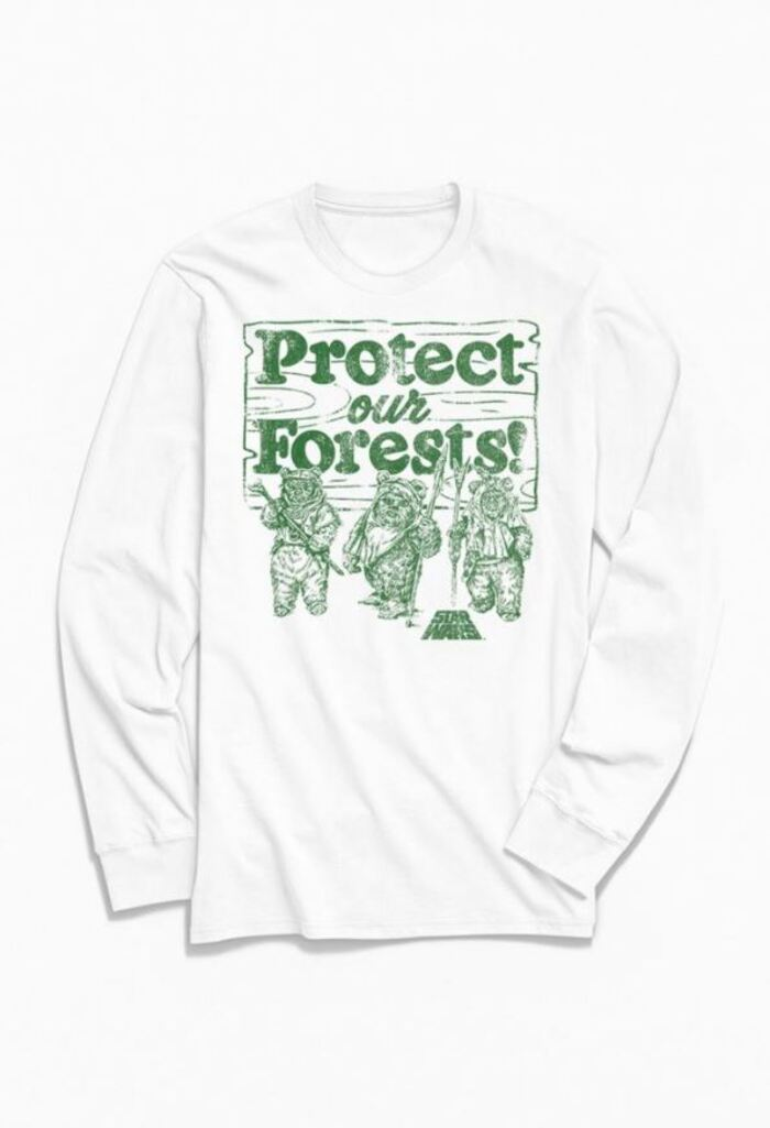 Star Wars Gifts - Ewoks Protect Our Forests Long Sleeve Tee