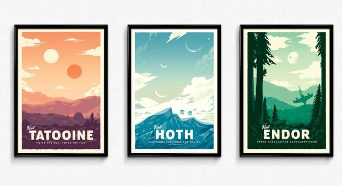 Star Wars Gifts - Retro Travel Posters