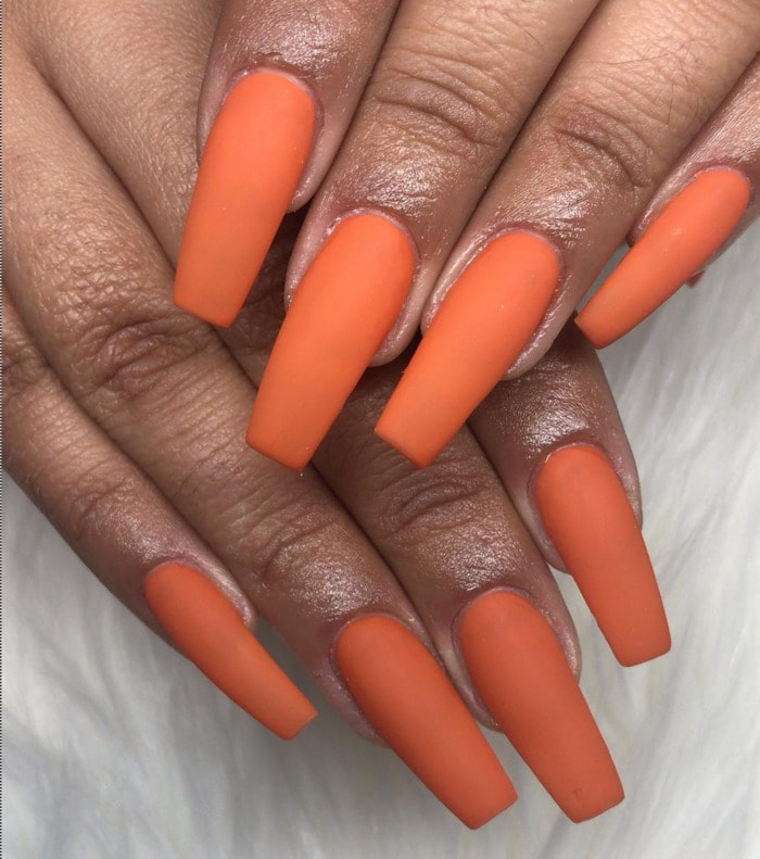 Thanksgiving Nails - Orange