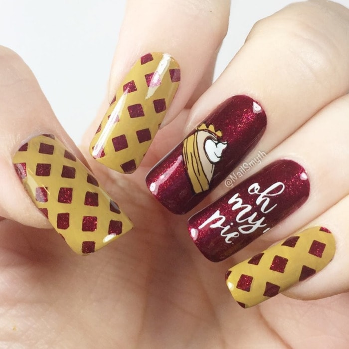 Thanksgiving Nails - Pie