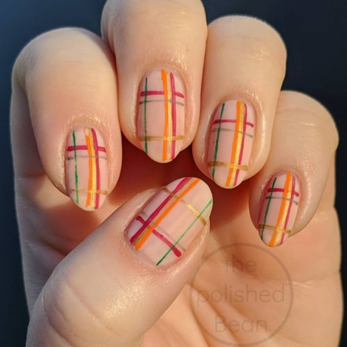Thanksgiving Nails - Plaid