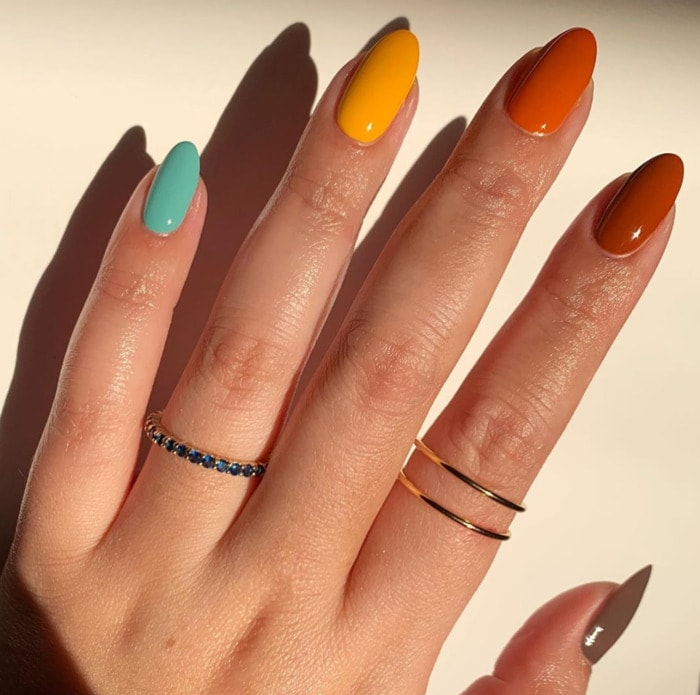 Thanksgiving Nails - Jewel Toned