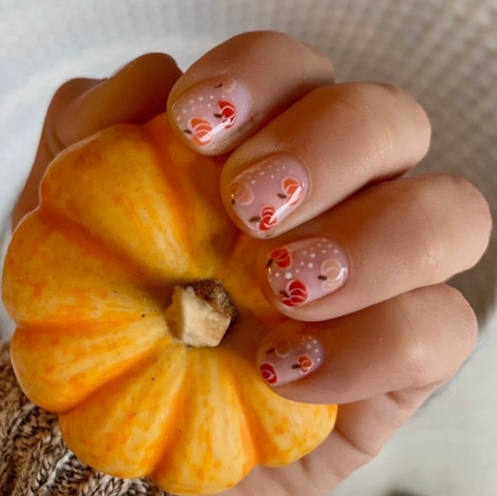 Thanksgiving Nails - Pumpkins