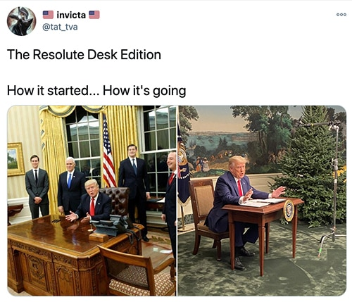 Trump Tiny Desk - how it started how it's going