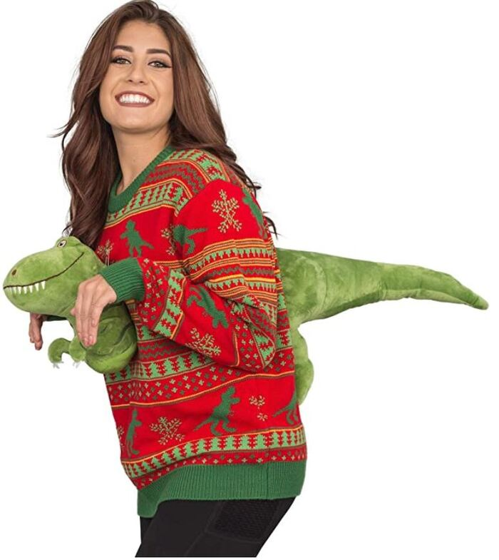 Ugly Christmas Sweaters - TRex