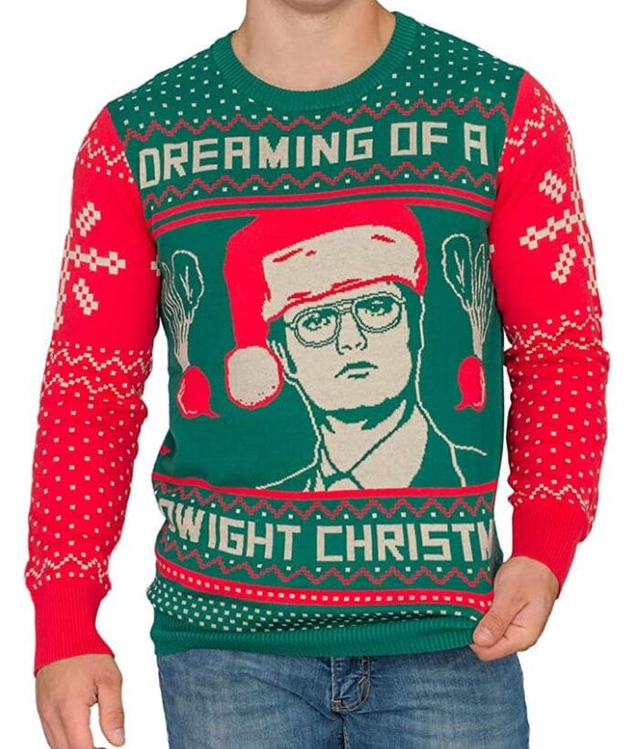 Ugly Christmas Sweaters - Dreaming of a Dwight Christmas