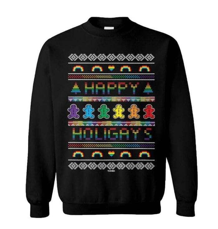 Ugly Christmas Sweaters - Happy Holidays LGBT