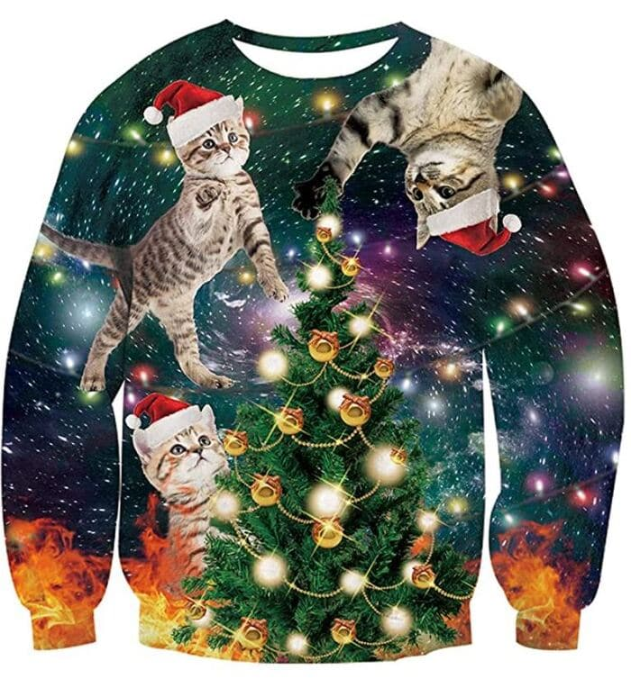 Ugly Christmas Sweaters - Christmas cats
