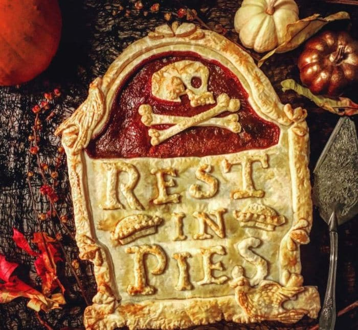 Unique Pies - Rest in Pies tombstone