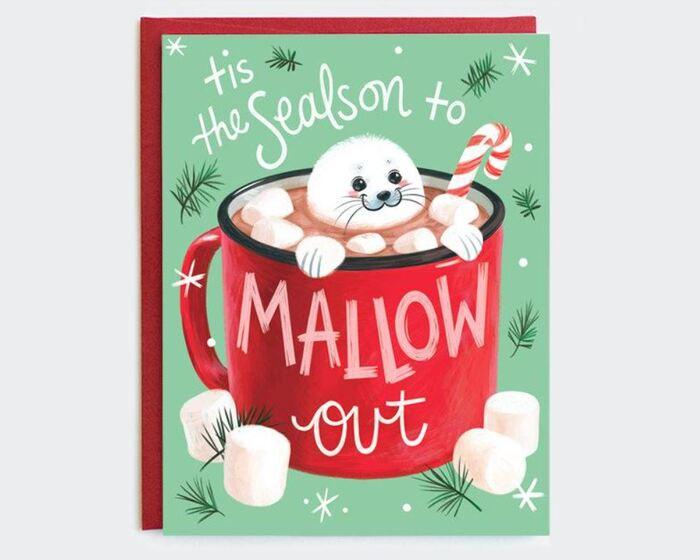 Winter Puns - Tis the season to mallow out marshmallow