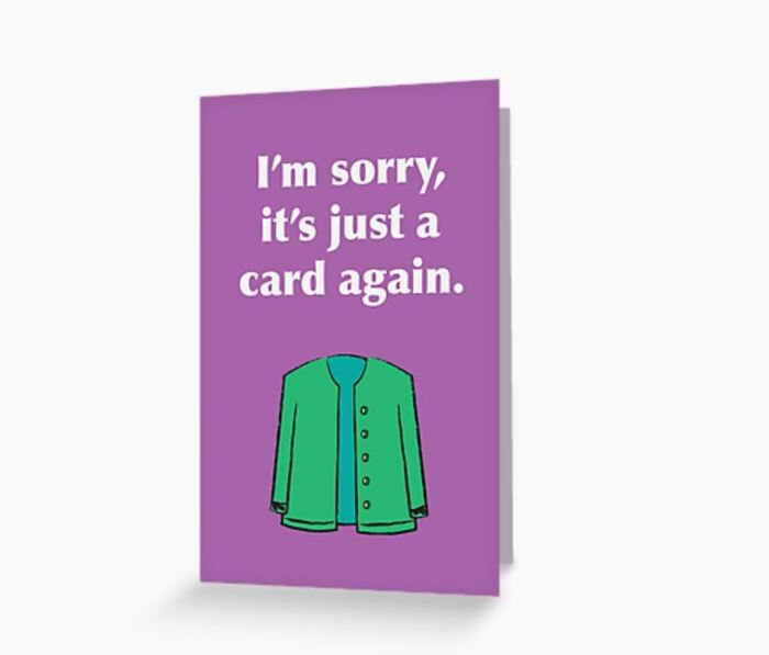 Winter Puns - I'm sorry it's just a card again cardigan crard