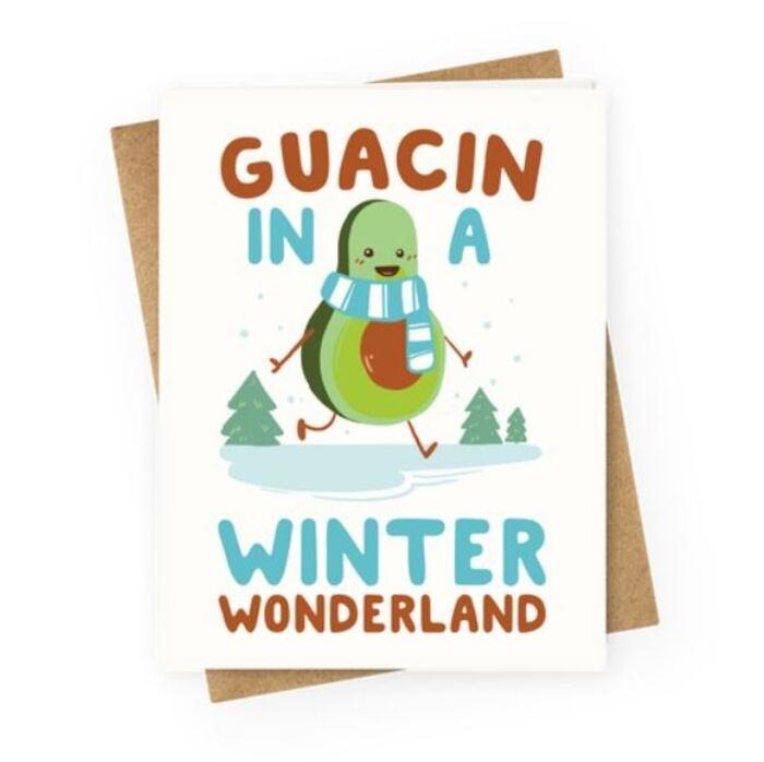 Winter Puns - In a winter wonderland avocado
