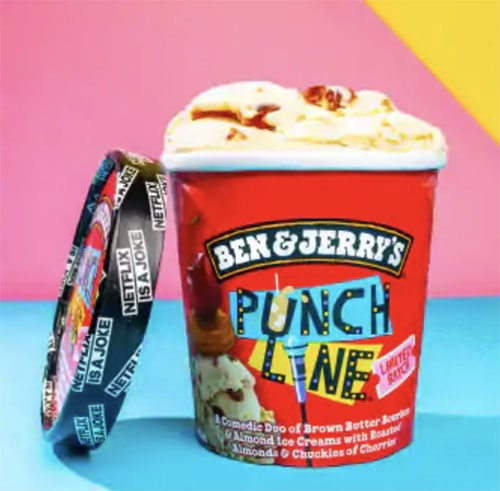 Ben & Jerry's Punch Line Netflix Ice Cream - Pint