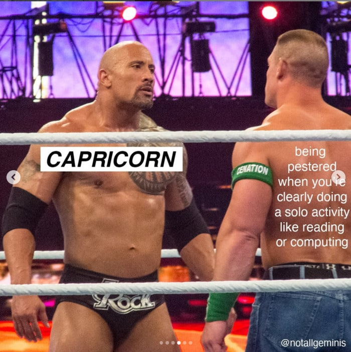 Capricorn Memes - The Rock in the ring