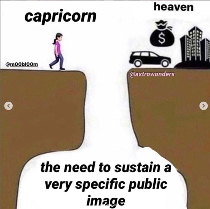 Capricorn Memes - Person walking towards pit