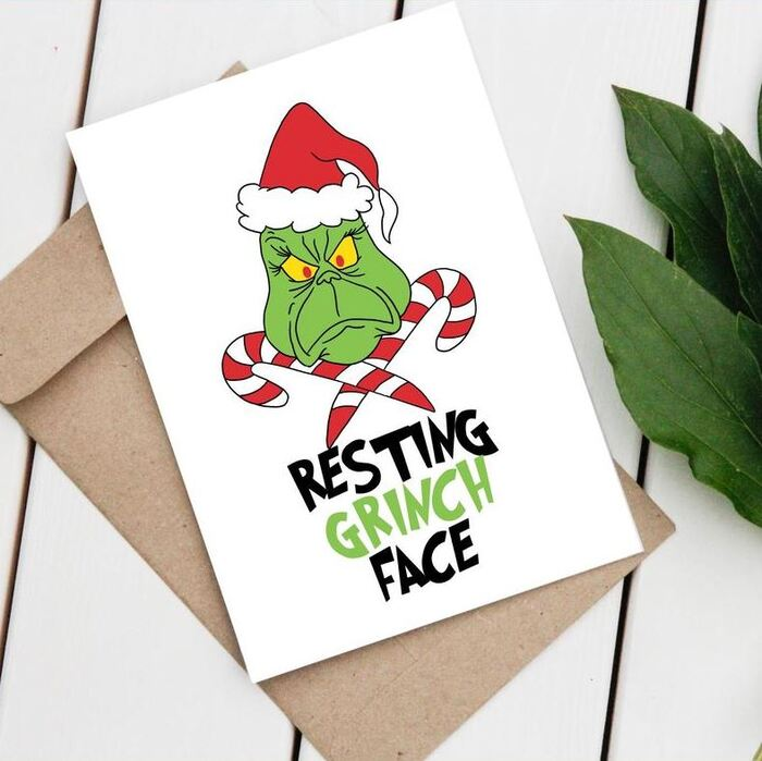 Christmas puns - Resting Grinch Face