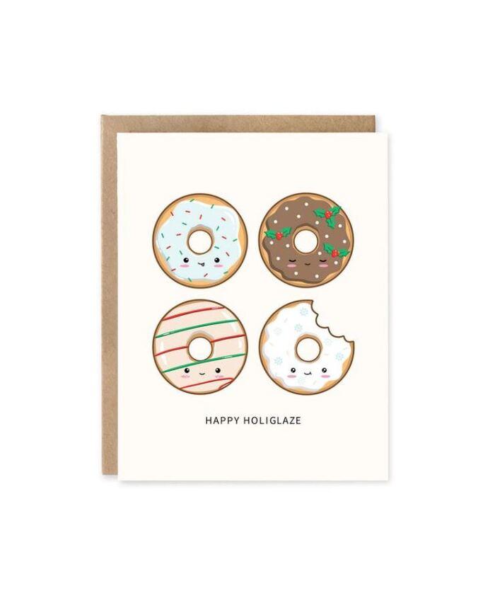 Christmas puns - Happy Holiglaze donut