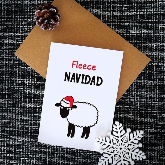 Christmas puns - Fleece Navidad Christmas sheep