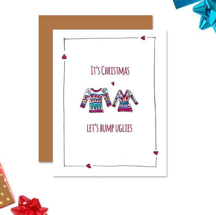 Christmas puns - It's Christmas let's bump uglies Christmas Jumpers