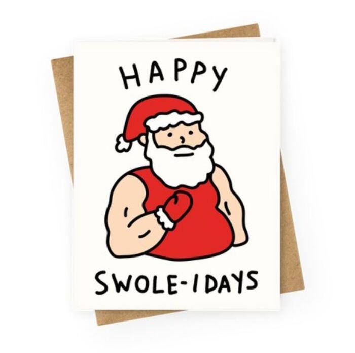 Christmas Puns - Happy Swole Idays