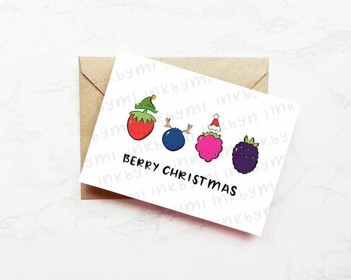 Christmas Puns - Berry Christmas Christmas berries