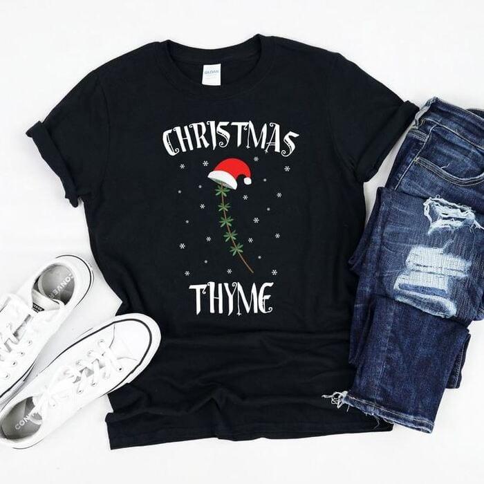 Christmas puns - Christmas Thyme herb T-Shirt