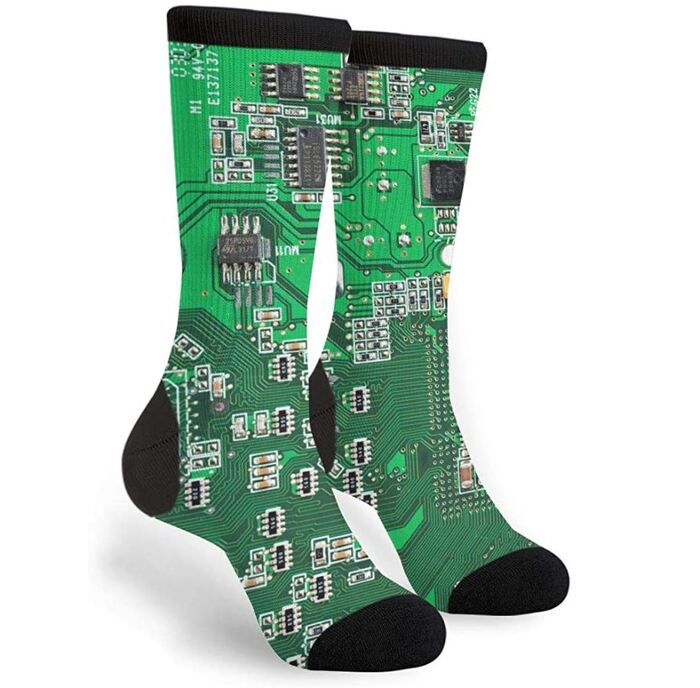 Computer Geek Gifts - Circuit Board Socks