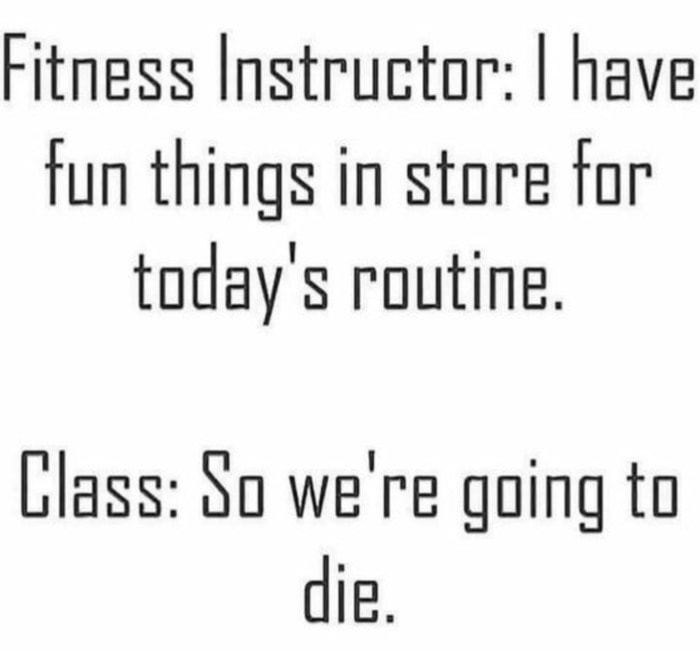 Funny Workout Memes - Fitness Instructor