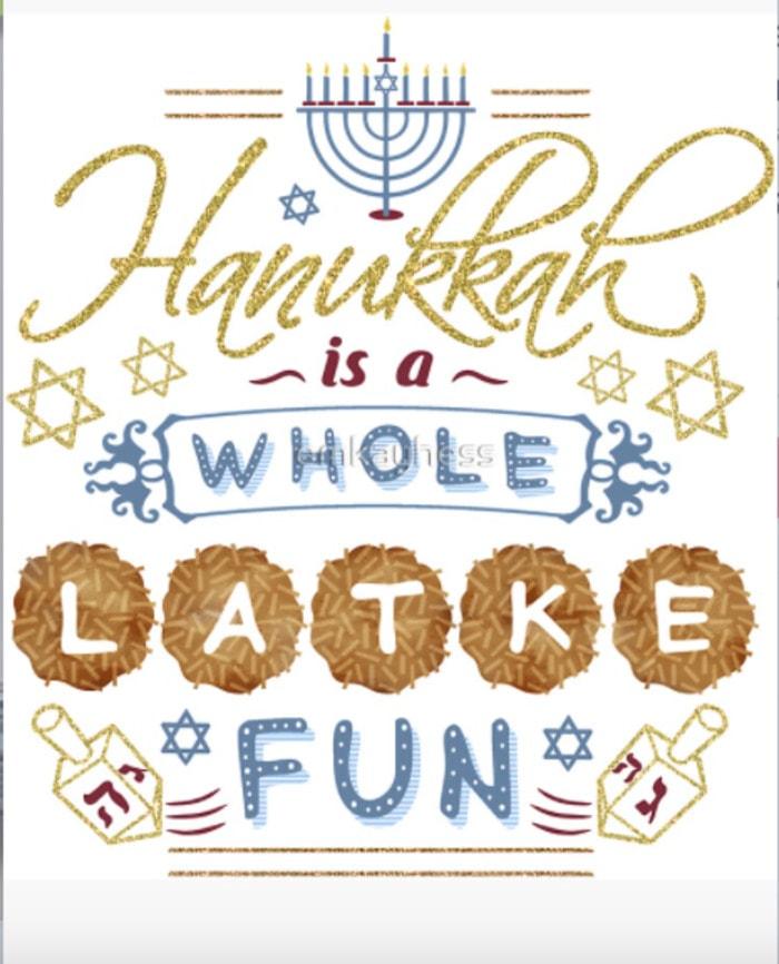 Hanukkah Puns - Hanukkah is a whole Latke fun