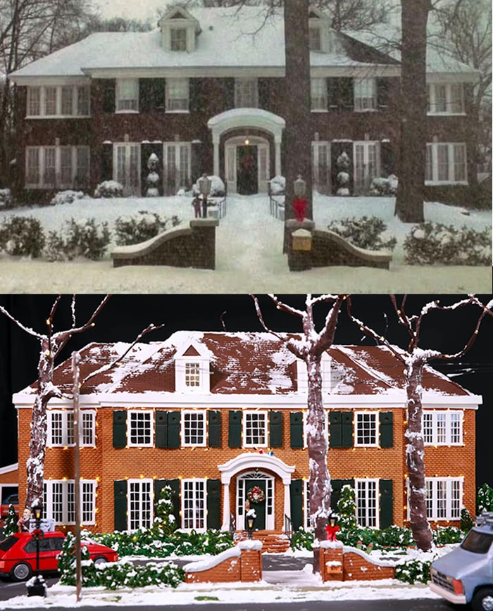 Home Alone House Gingerbread - Real Movie House vs Gingerbread House