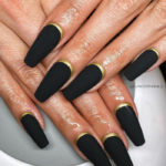 New Year's Nails - Black and Gold