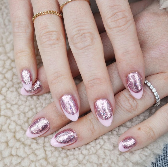 New Year's Nails - Pink Chrome