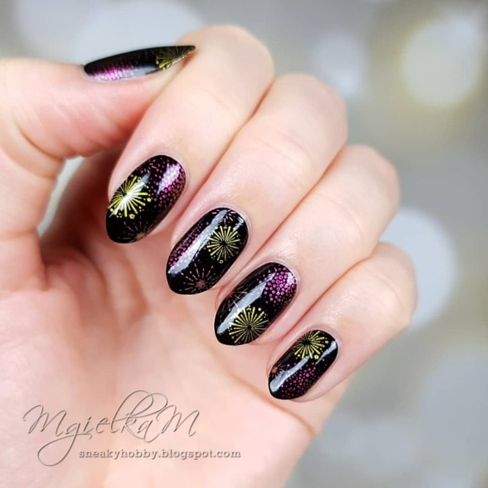 New Year's Nails - Fireworks