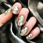 New Year's Nail Designs - Gold and White Stars