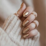 New Year's Nail Designs - Gold Shimmer