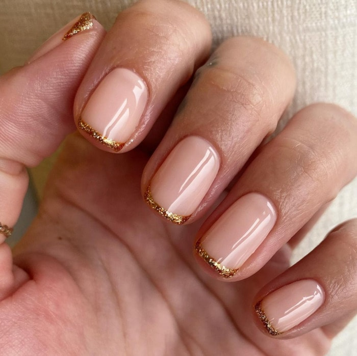 New Year's Nail Designs - Pink and Gold