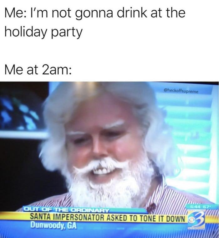 Santa Memes - Partying Too Hard